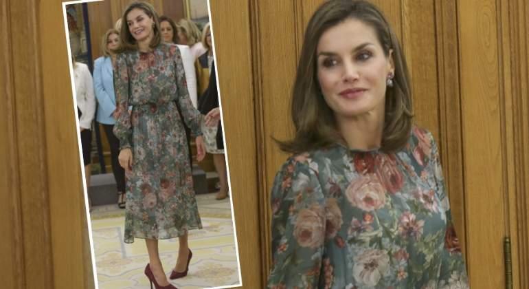 El vestido de de 50€ del Zara con el que Doña Letizia ha recibido el otoño