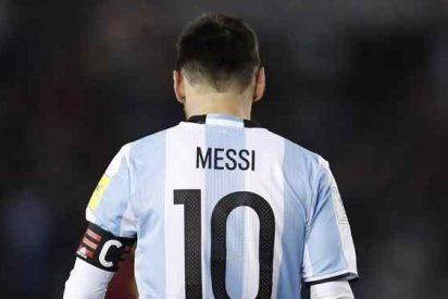 Messi estalla al final del Argentina-Perú con un mensaje a un crack del Barça