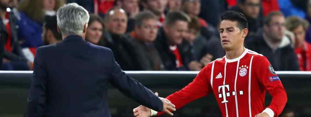 El giro radical que saca a James Rodríguez del Bayern de Múnich