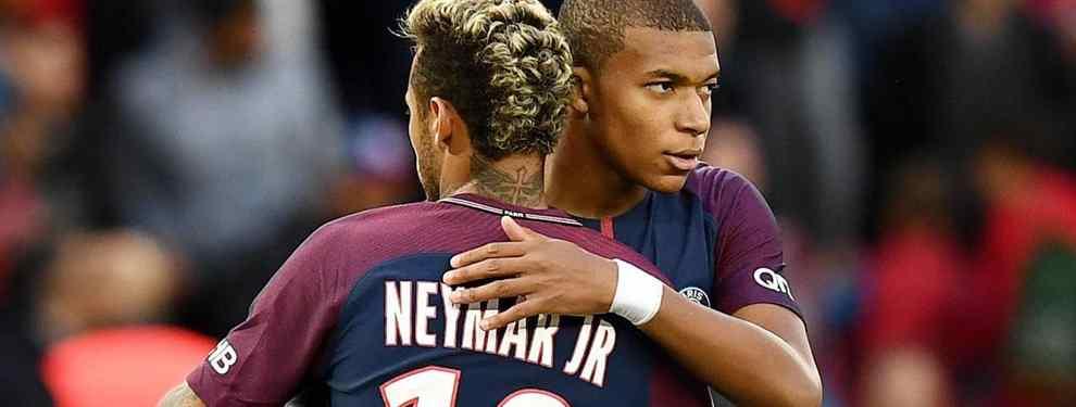 Mbappé no incluye a Neymar en la foto de campeones