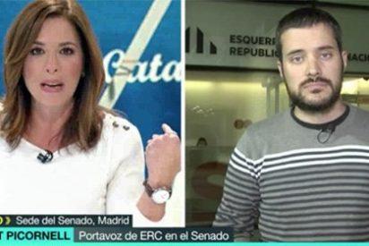 """Mamen Mendizabal zarandea a un acomplejado senador de ERC: """"¿El 155 ya no les va de coña?"""""""