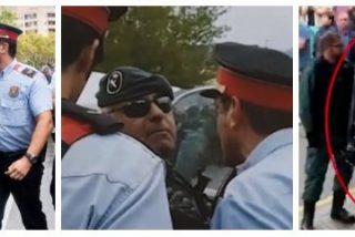 Twitter estalla de furia con los vídeos de los traidores Mossos encarándose con la Guardia Civil