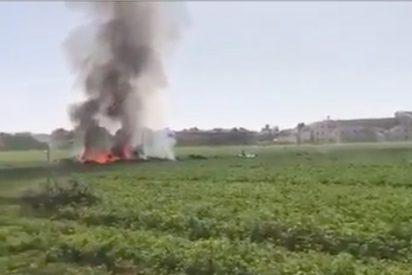 Muere un capitán del Ejército del Aire tras estrellarse su Eurofighter cuando volvía del desfile de la Fiesta Nacional