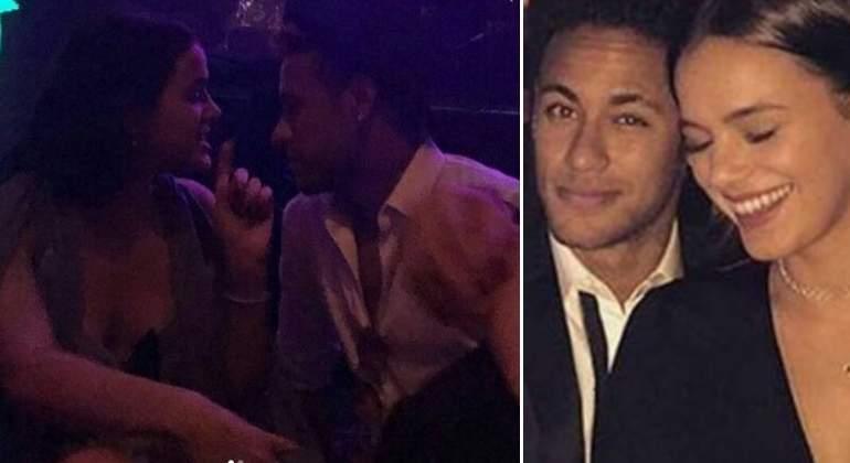 Neymar, pillado besando a su ex