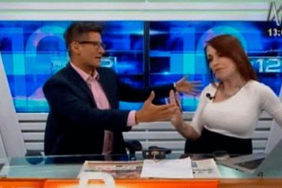 [VIDEO] La insólita apuesta de esta periodista con su compañero si Perú gana a la selección rusa