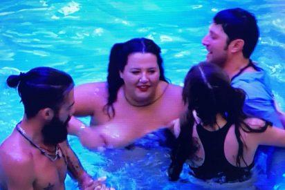 'GH Revolution': Pilar pierde el bikini y enseña un pezón en plena gala