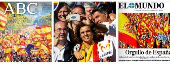 El sentimiento de orgullo español 'revienta' Barcelona: los partidos político no lo merecen, pero España, sí
