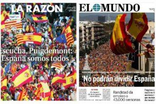 La mayoría silenciosa clama por la unidad de España mientras Rajoy insiste en dialogar con los golpistas