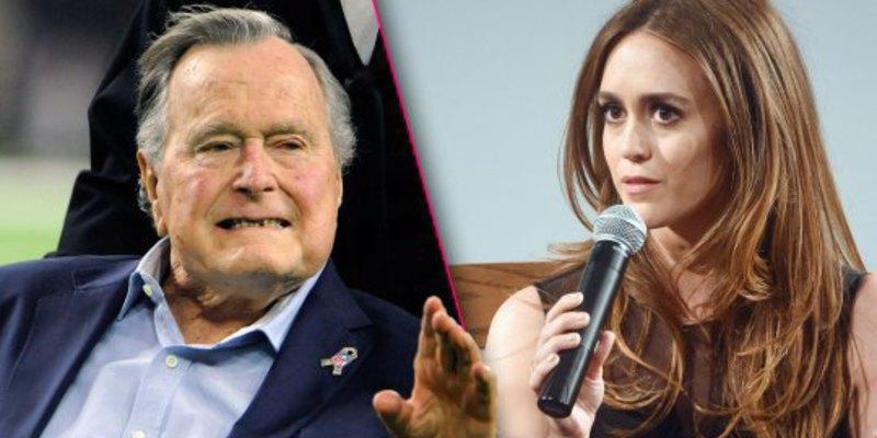 El expresidente George Bush padre pide perdón a una actriz por sobarla