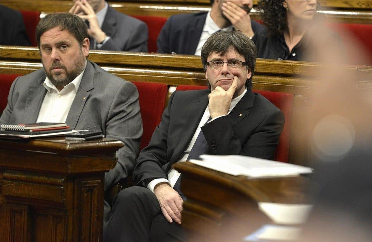 El tuit de Oriol Junqueras como respuesta a Maragall con el que ambos exigen a Puigdemont que se eche definitivamente al monte