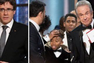 """Twitter se cachondea de Puigdemont por su gatillazo: """"Ha durado la independencia lo que el Oscar de La La Land"""""""