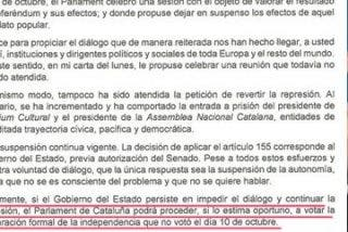 El bravucón golpista Puigdemont amenaza con aprobar la independencia si Rajoy no se sienta a su mesa