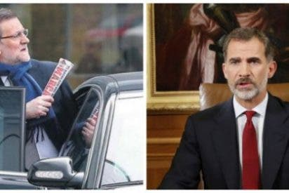 Rajoy, déjate de melindres, escucha a Felipe VI y aplica de una vez el 155 en Cataluña