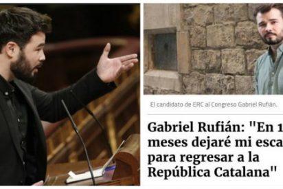 Twitter le mete un imperial repaso al 'bien pagado' de Gabriel Rufián por 'bocachancla' e incoherente