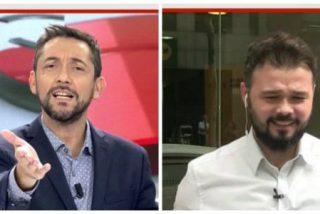 Javier Ruiz despierta de un sopapo a Rufián de sus sueños húmedos independentistas