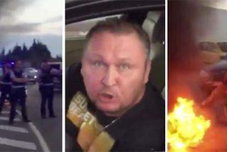 El ciudadano ruso que desbarata una barricada y da una lección descomunal a los 'catabatasunos'