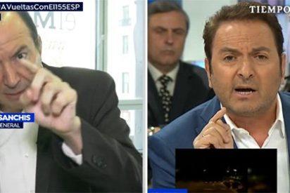 El colérico independentista de TV3 se pone como un loco con Castillón por recordarle que gana más que Rajoy