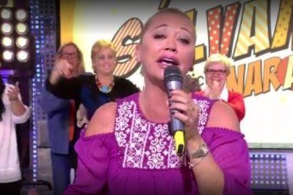 Belén Esteban canta '¡Que viva España!' tras la pifiada declaración de independencia catalana