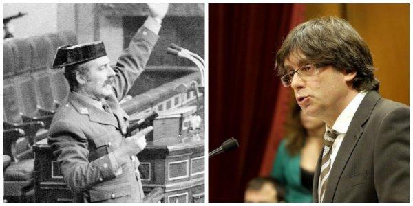 """¡Al suelo todo el mundo! El golpista Puigdemont declara la independencia pero la suspende para """"negociar"""""""