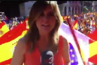La reportera de TV3 a quien dan en todos los morros con una bandera española