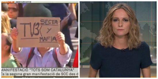 """Así vio TV3 la manifestación por la unidad de España : """"No son mayoría sino minoría y ya veremos si silenciosa"""""""