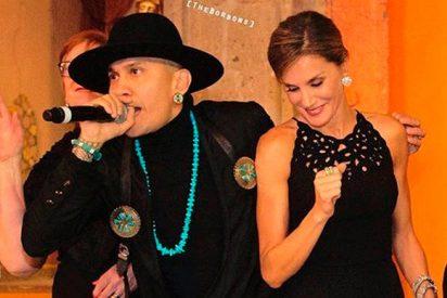 El insólito baile de la reina Letizia con el cantante Taboo en México