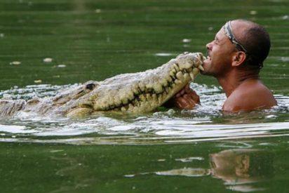 Un pescador encuentra un cocodrilo herido y lo domestica
