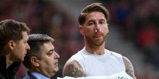 Le rompen el tabique nasal a Sergio Ramos en el empate Atlético de Madrid- Real Madrid