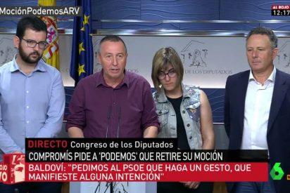 Compromís se desmarca de Podemos y votará en contra del cupo vasco