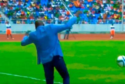 [VIDEO] Cachondeo en las redes por la espectacular caída del seleccionador de Zambia