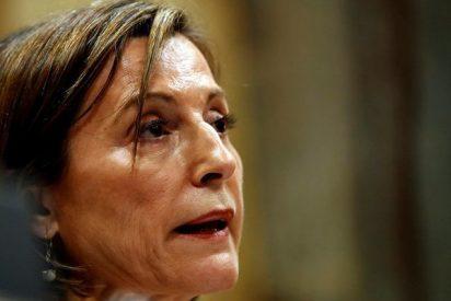 """La golpista Forcadell llega al Supremo tras denunciar el TC, por quinta vez, su """"contumacia"""" delictiva"""