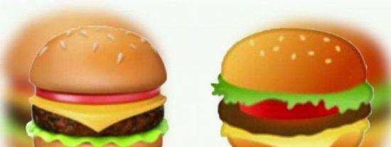 Apple y Google se pelean hasta con los emoticonos de la hamburguesa