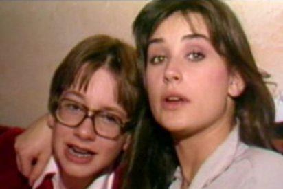 Cuando Demi Moore, bastante borracha, besaba apasionada a un chico de 15 años