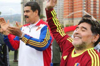 Cuando Maradona jugaba partidos de 'fútbol' con el tirano Nicolás Maduro