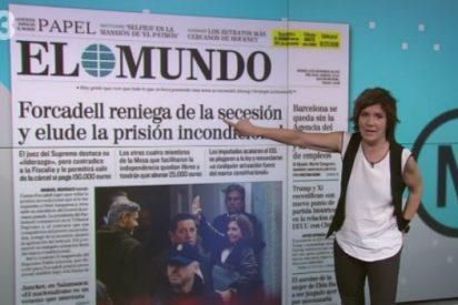 Empar Moliner equipara en TV3 la rectificación de Forcadell con... ¡la renuncia forzada de Galileo!