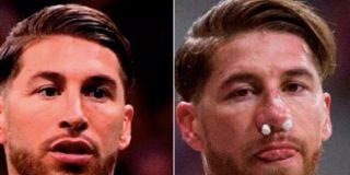 Lucas Hernández le parte la cara a Sergio Ramos de una patada