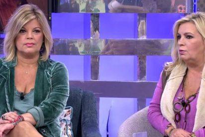 'Broncas Campos': feroz pelea entre Terelu y Carmen en el pasillo de Telecinco