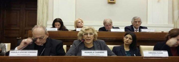 Carmena regresa al Vaticano para una cumbre sobre el tráfico de personas