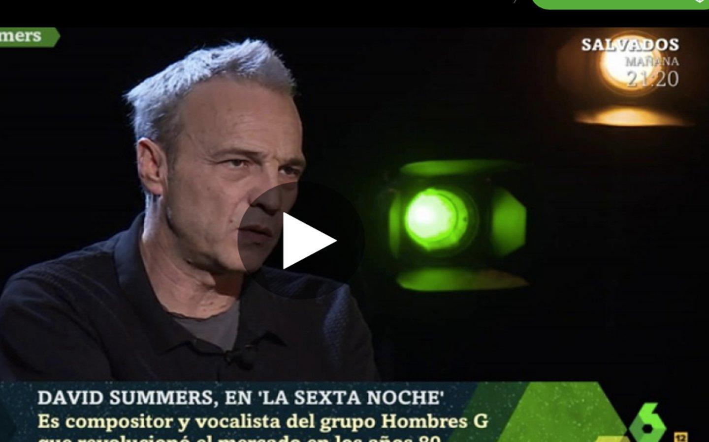 """'La Sexta Noche': David Summers: """"El tratamiento que hacen los políticos de la cultura es lamentable"""""""