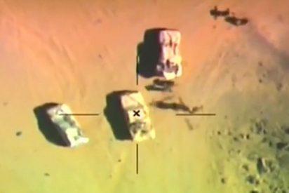 El avión egipcio que vuela la cabeza a cinco cobardes yihadistas 'mata cristianos'