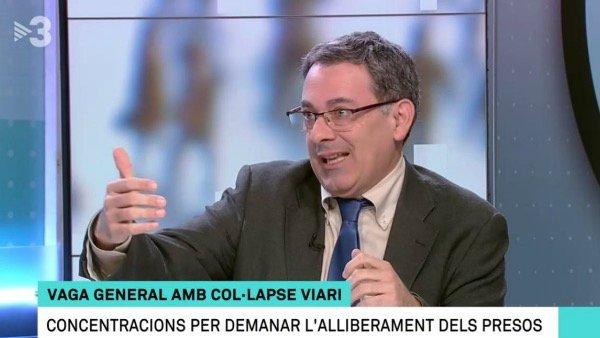 "Ferrán Espada (TV3): ""¡La Fiscalía ha construido un caso artificial con medidas impropias!"""