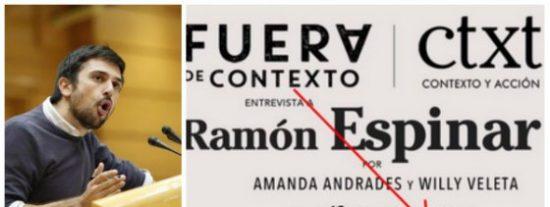 Un digital podemita cobra 10 euros por escuchar al especulador inmobiliario Ramón Espinar criticar al capitalismo