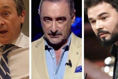Rufián se mofa del precipitado adiós de Herrera a TVE y Hermann Tertsch se pregunta si el de ERC será su sustituto