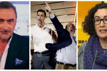 """Carlos Herrera le atiza un buen meneo al sobrado Sánchez y al bailón Iceta por su veto a Arrimadas y dar aire a la """"descerebrada"""" Rovira"""