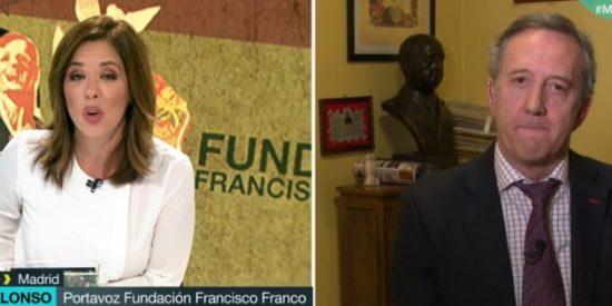 Los 'zascas' sin mano izquierda de Mamen Mendizábal al portavoz de la Fundación Franco