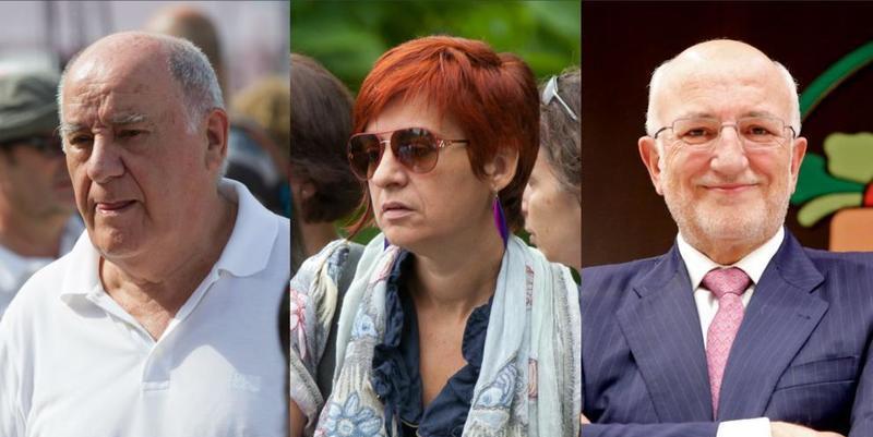 Amancio Ortega, su hija Sandra y Juan Roig, son los tres más ricos de España