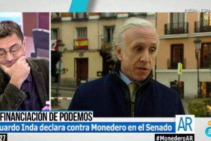 """El corte épico de Ana Rosa a Monedero en defensa de Inda: """"¡No insultes a una persona que no está aquí!"""""""