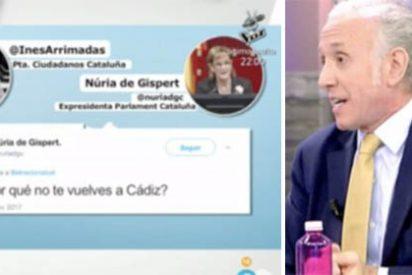 """Inda despelleja a la independentista que quiere echar de Cataluña a Arrimadas: """"Esto es xenófobo y supremacista, ¡es fascismo y es repugnante!"""""""