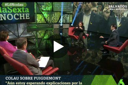'La Sexta Noche': Ada Colau espera sentada las explicaciones por la marcha de Puigdemont a Bruselas