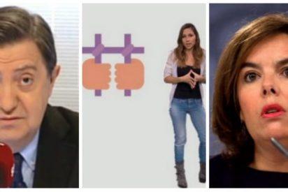 """Losantos, desatado contra Soraya por no enterarse de los desmanes de TV3: """"Mentirosa, que eres más falsa que un euro de plástico"""""""